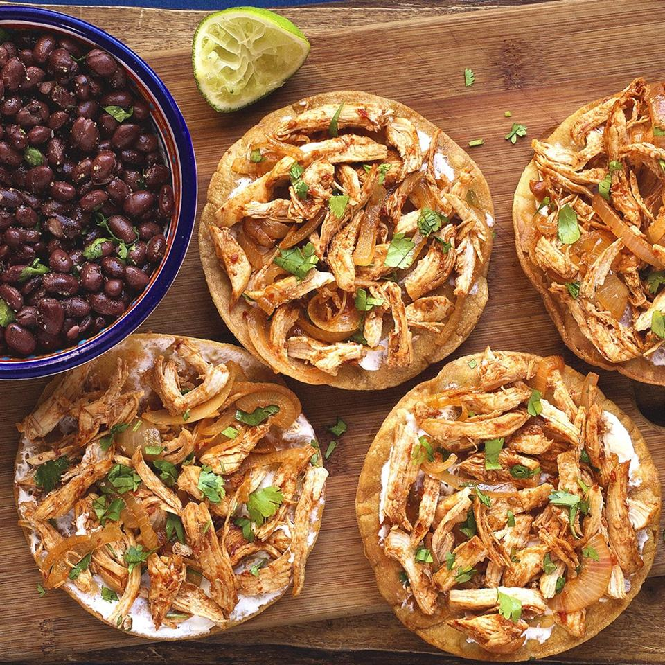 Chicken Tinga Tostados