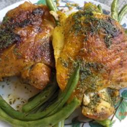 Chicken with Lime Butter Patty Cakes