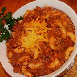 Lori's Beef and Spaghetti Macaroni Lesley