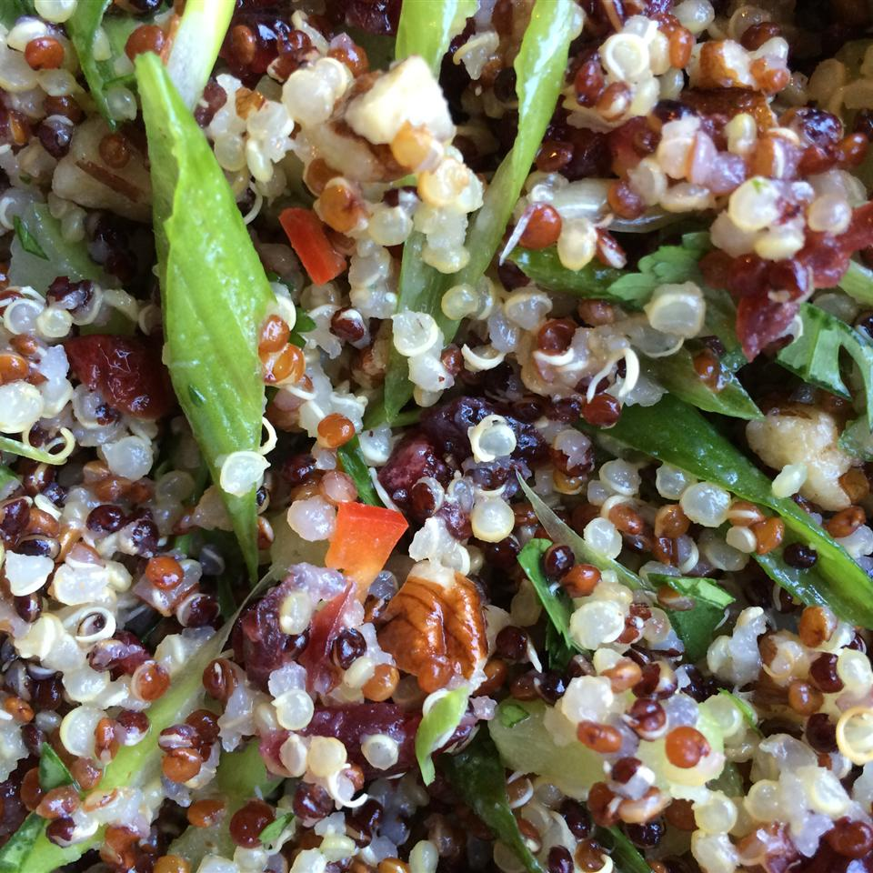 Quinoa Salad with Dried Fruit and Nuts Carm