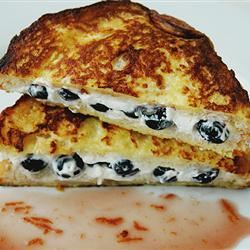 Easy Blueberries And Cream French Toast Sandwich with Orange Maple Syrup Janet Yong