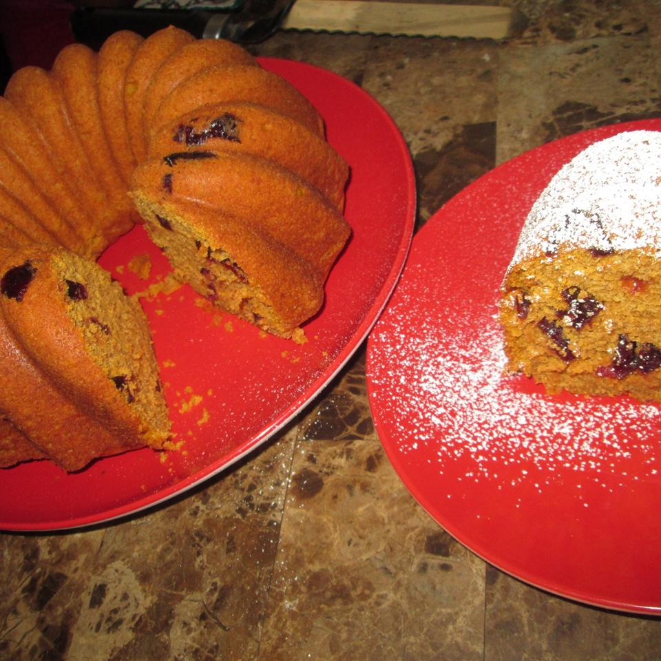 Titi's Cranberry Walnut Pumpkin Bread Cake
