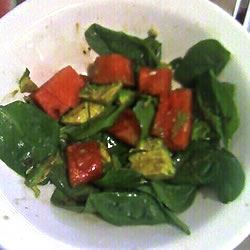Avocado Watermelon Spinach Salad MAXMSF
