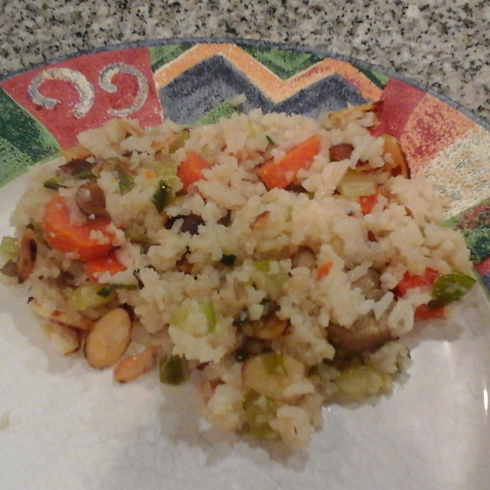 Confetti Rice with Carrot, Celery, and Almonds vicki936