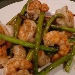 Jumbo Shrimp and Asparagus SweetBasil