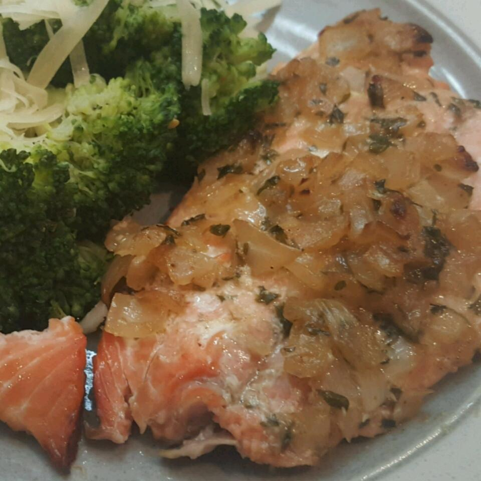 BBQ Salmon in Butter Sauce