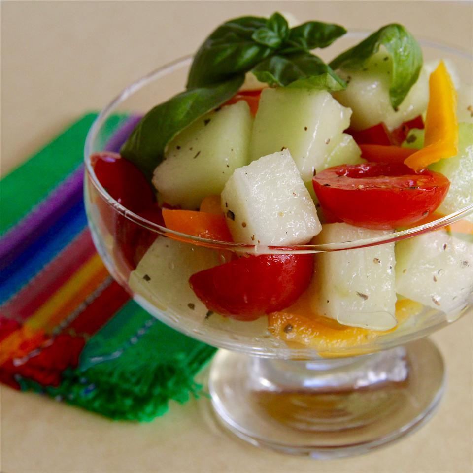 Honeydew-Grape Tomato Salad