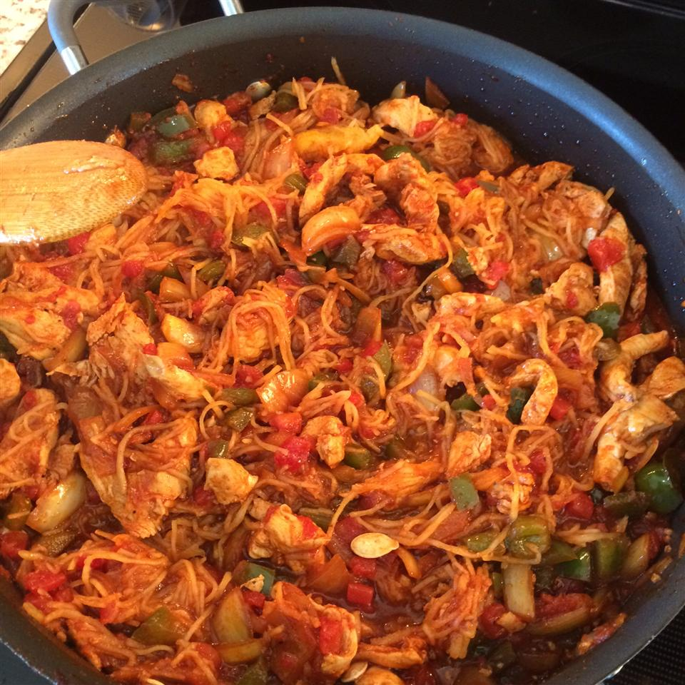 Chicken Paprika with Spaghetti Squash jenngersnaps