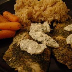 Tilapia with Creamy Sauce whoamamma
