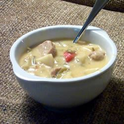 Cheesy Brat Stew for the Slow Cooker m.d.s.