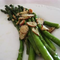 Asparagus with Sliced Almonds and Parmesan Cheese Dianne