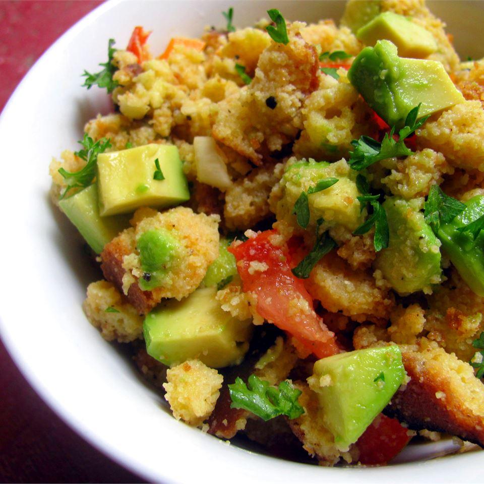 Tomato-Cornbread Salad with Avocado and Cilantro USA WEEKEND Pam Anderson