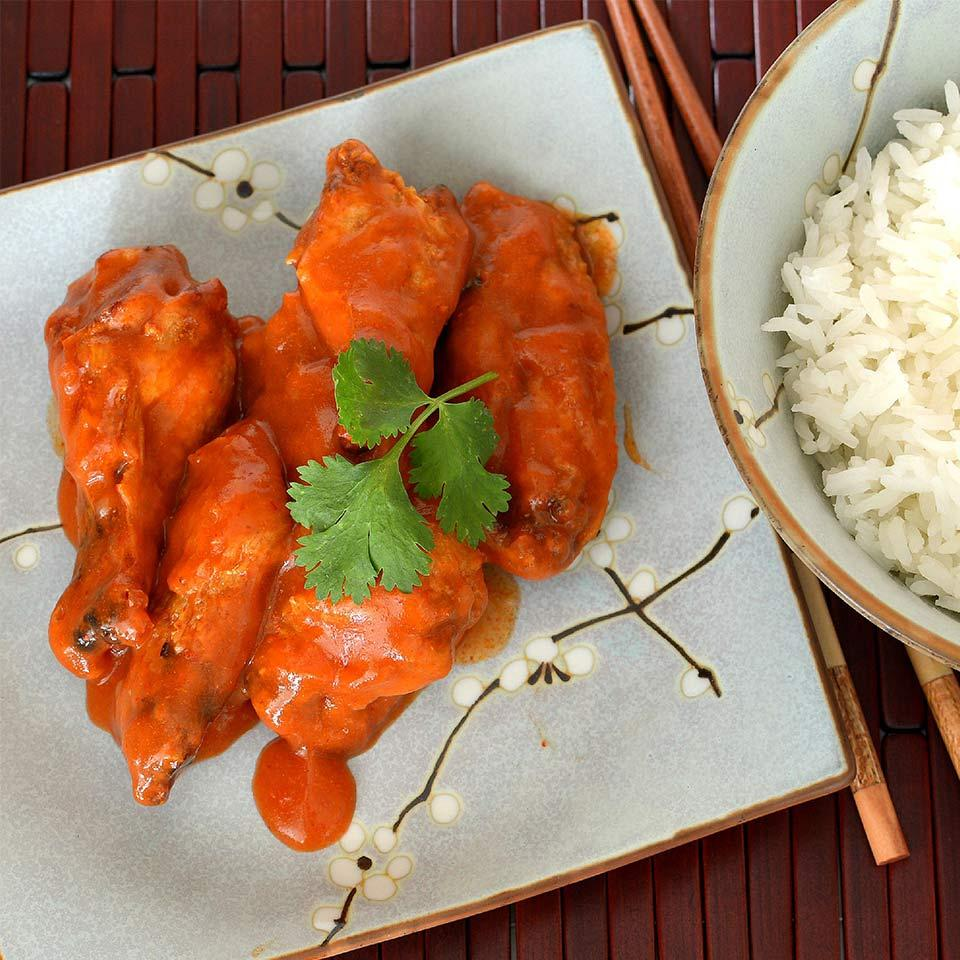 Thai Red Curry Hot Wings Trusted Brands