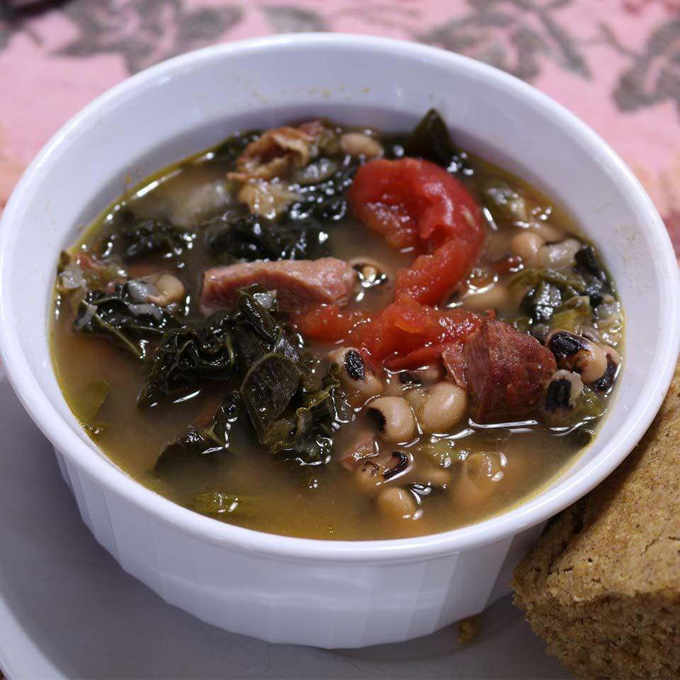 SoCal Greens and Black Eyed Pea Soup