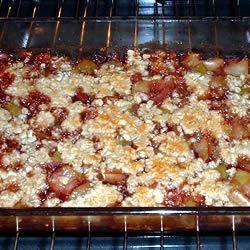 Brenda's Apple and Pomegranate Crisp