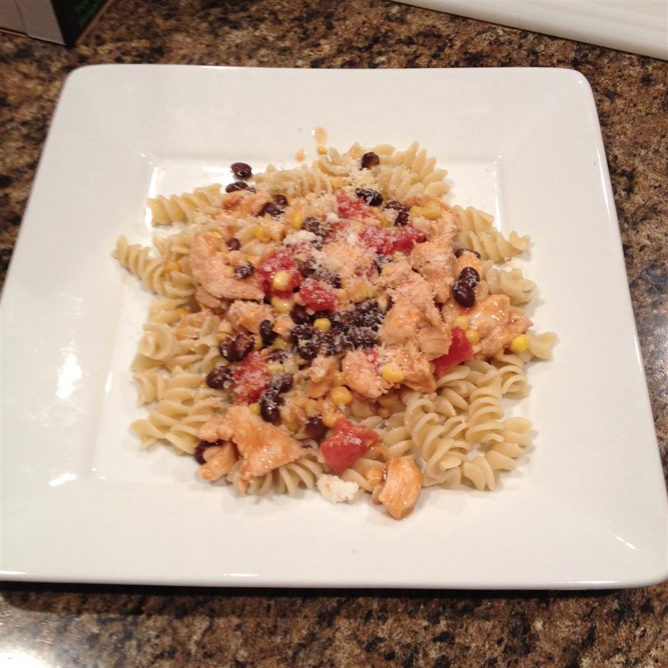 Black Bean and Corn Pasta with Chicken
