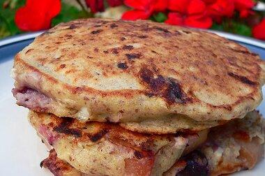 cinnamon peach cottage cheese pancakes recipe