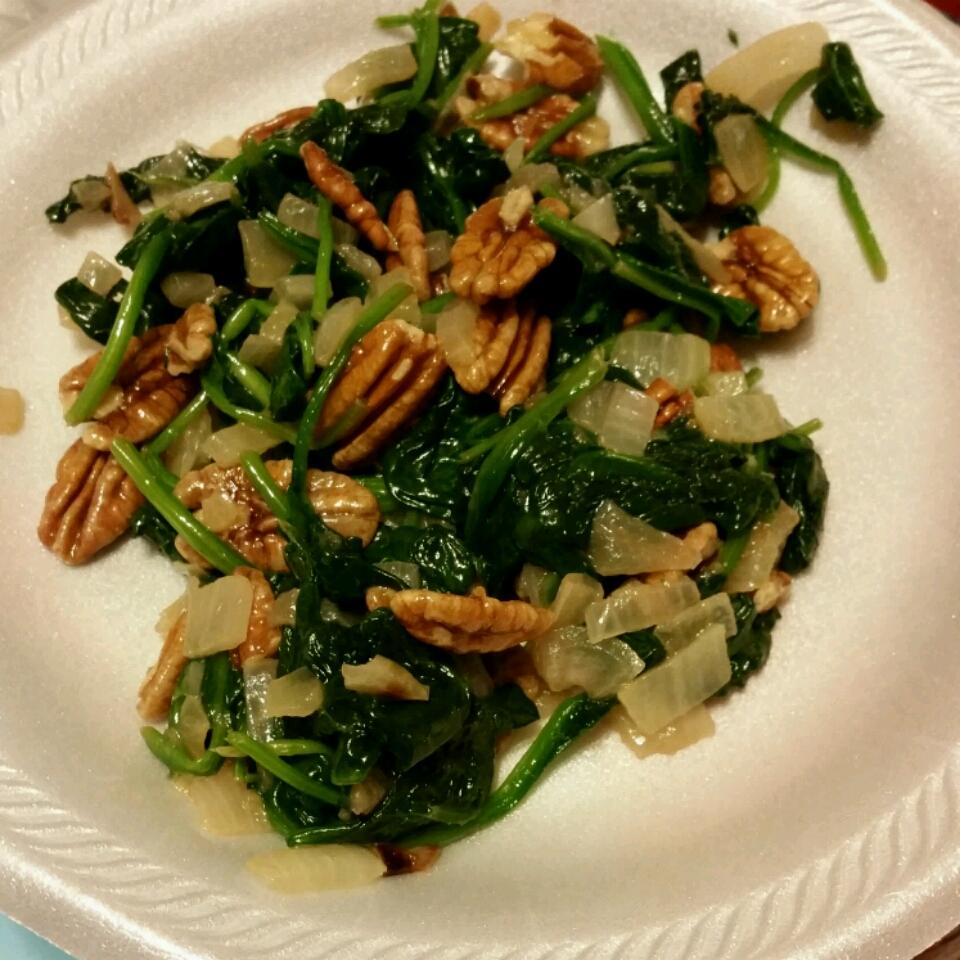 Spinach with Pecans