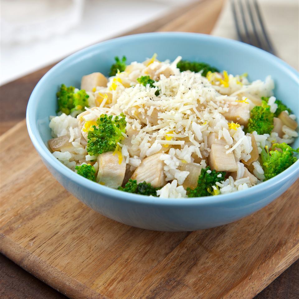 Lemon-Parmesan Chicken and Rice Bowl