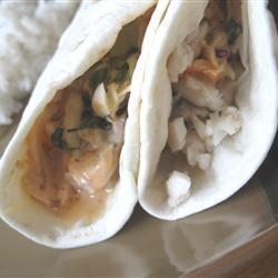 Fish Tacos with Honey-Cumin Cilantro Slaw and Chipotle Mayo