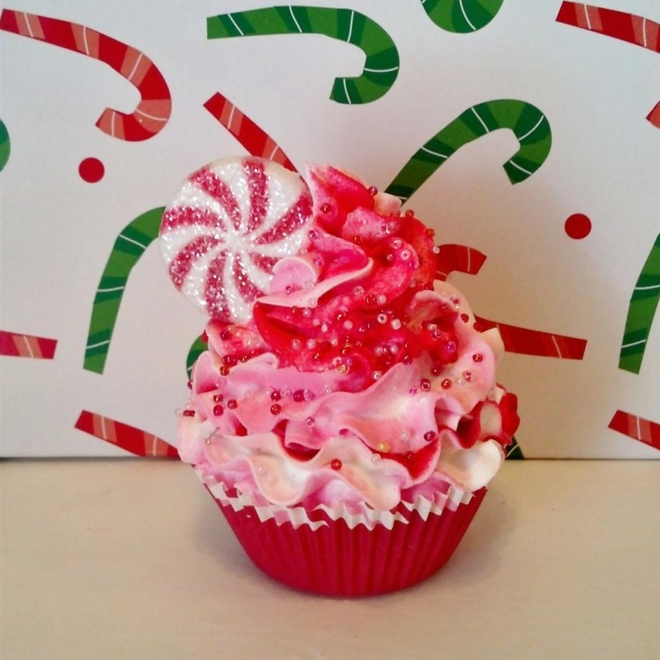 Pink Peppermint Cupcake