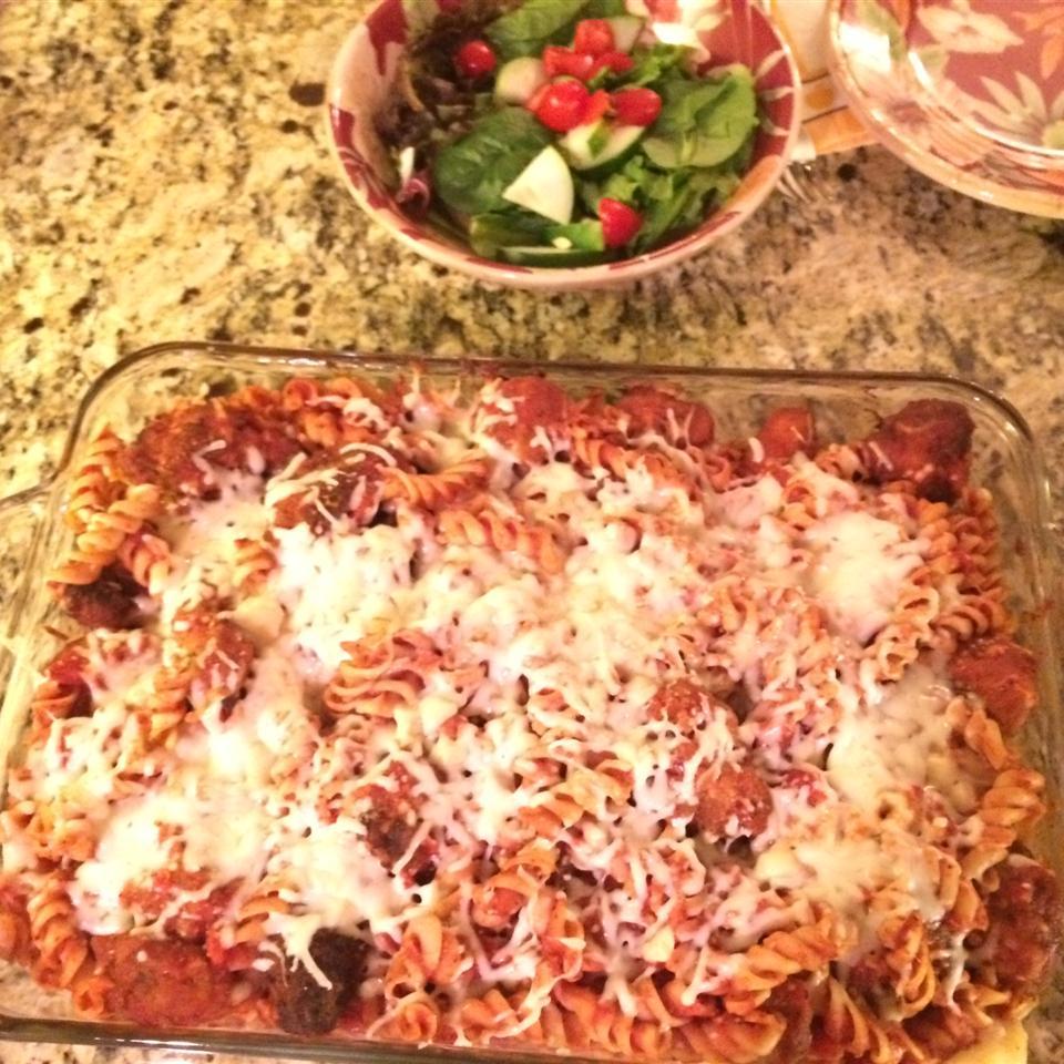 Chicken Parmesan Pasta Casserole Getitbp