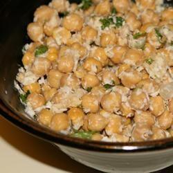 Chickpea Coconut Salad