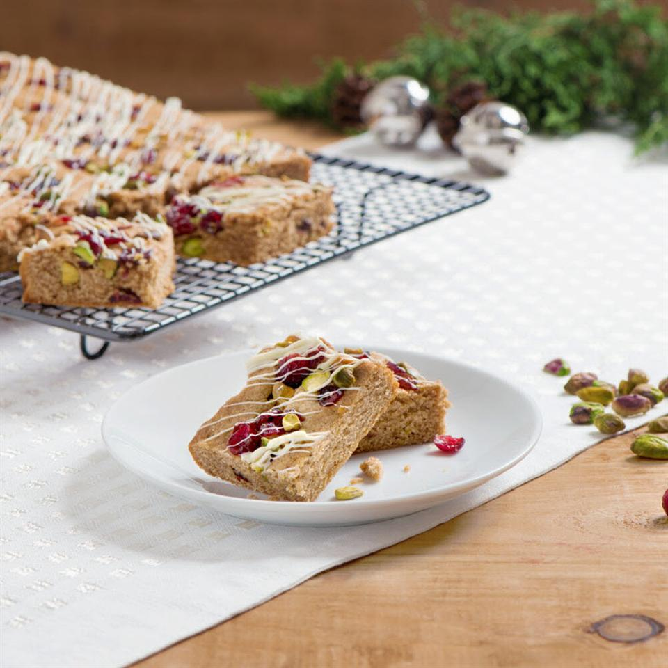 Becel Anything Goes Cookie Dough Festive Gingerbread Cookie Bars