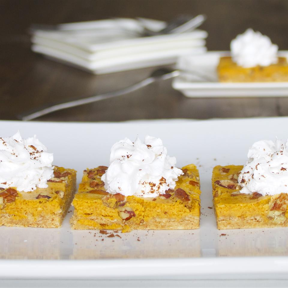 Pumpkin Cheesecake Bars Mackenzie Schieck