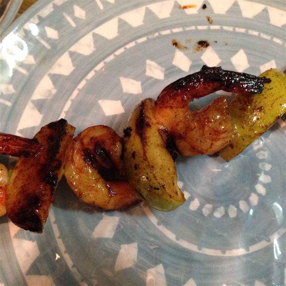 Grilled Shrimp and Apple Skewers Gina