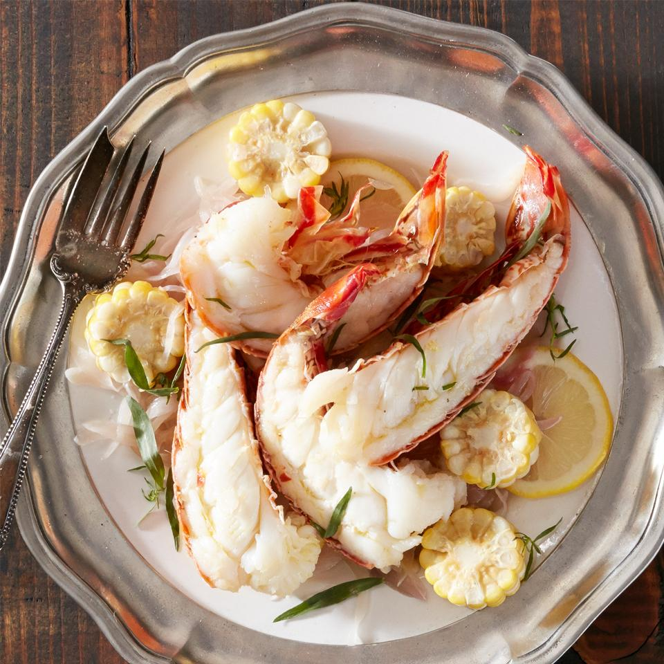 Tarragon and Lemon Lobster Scampi