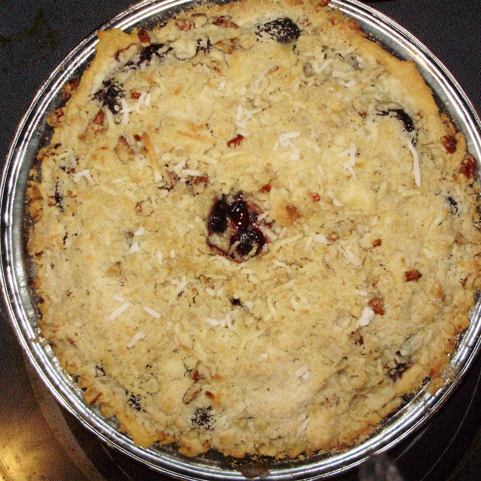Coconut Streusel Cherry Pie