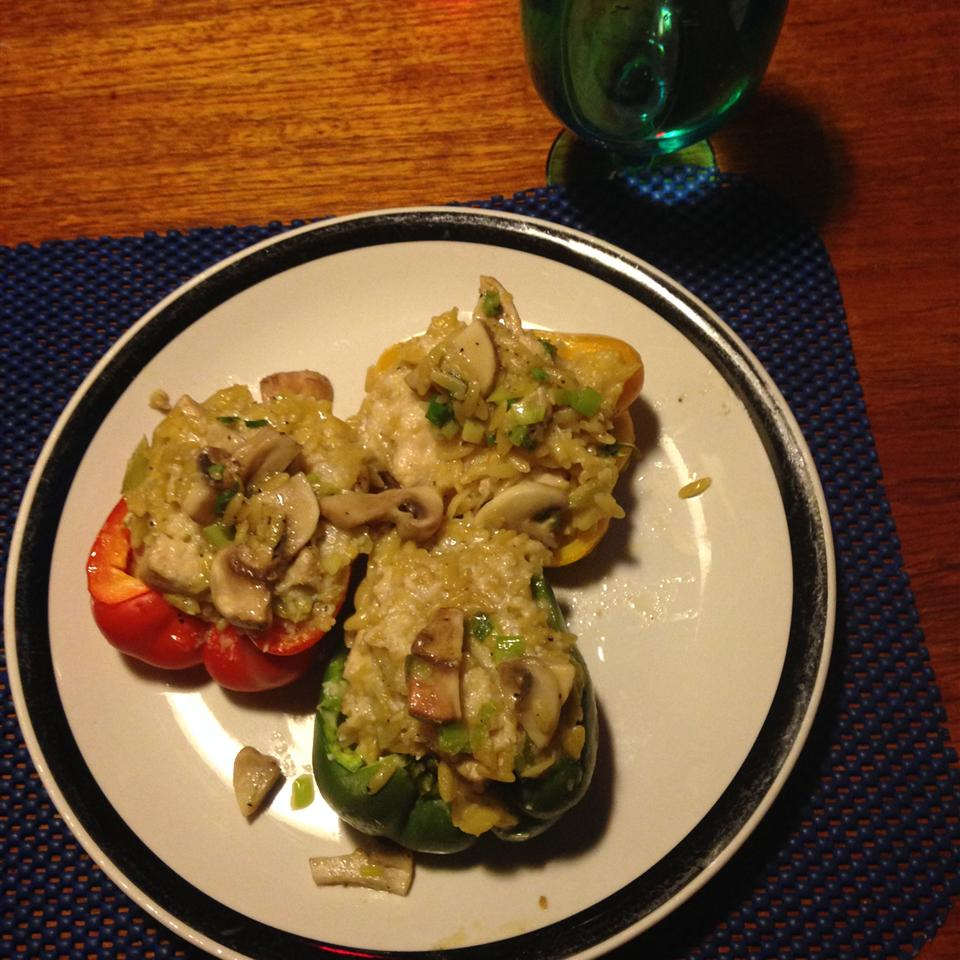Orzo and Chicken Stuffed Peppers Bill Burr