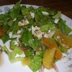 Orange, Walnut, Gorgonzola and Mixed Greens Salad with Fresh Citrus Vinaigrette