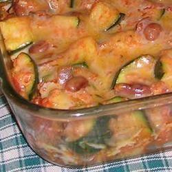 Spicy Mexican Style Zucchini Casserole DIZ♥