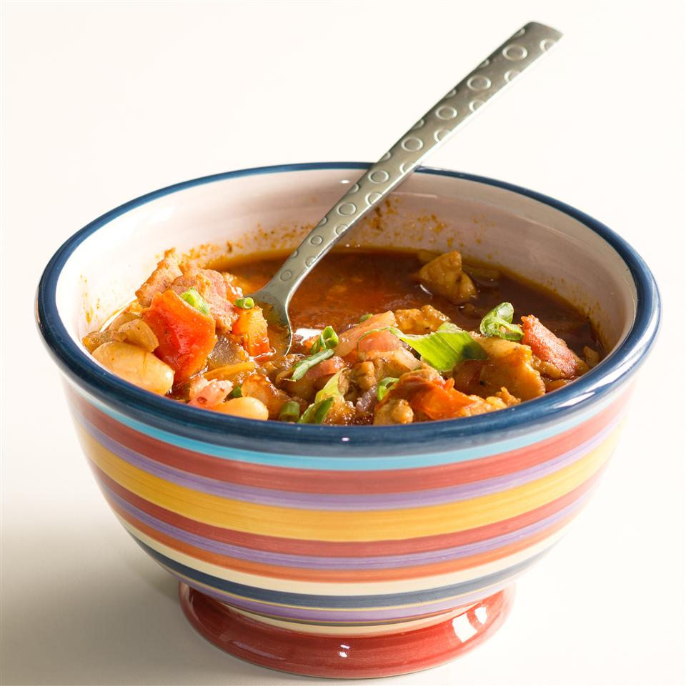 Smoky Pork, Bacon and White Bean Chili from Smithfield® Erica Brown