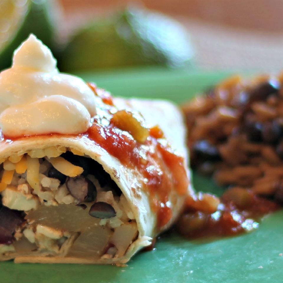 Vegetarian Jamaican Jerk Burrito