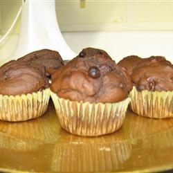 Chocolate Chocolate Chip Muffins soccindy