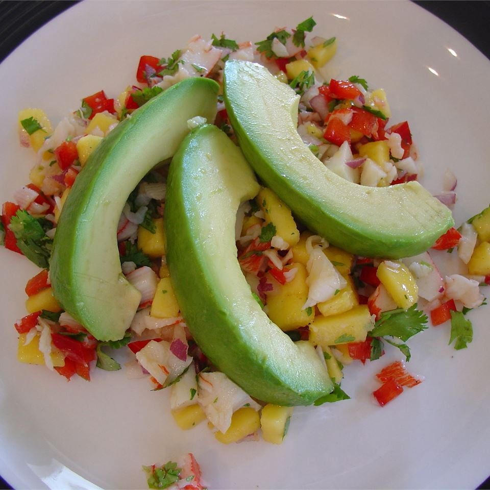 Crab & Avocado Salad with Fruit Salsa USA WEEKEND columnist Pam Anderson