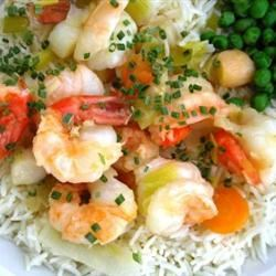 King Prawn and Scallop in Ginger Butter Dixie'sMom