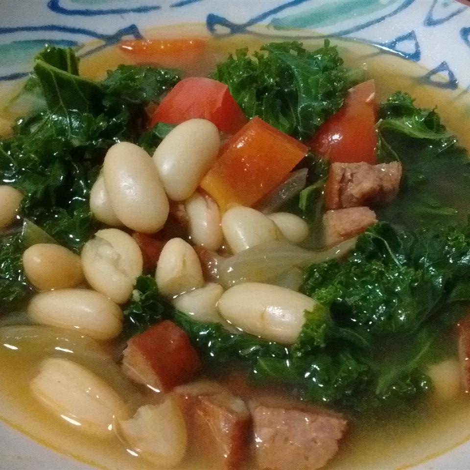 Spanish Style White Bean and Sausage Soup seasha
