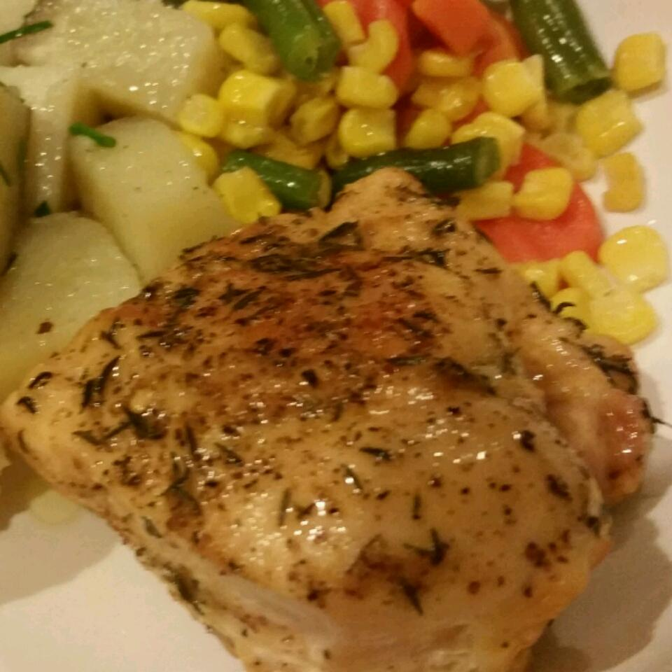 Honey-Mustard Chicken with Roasted Vegetables