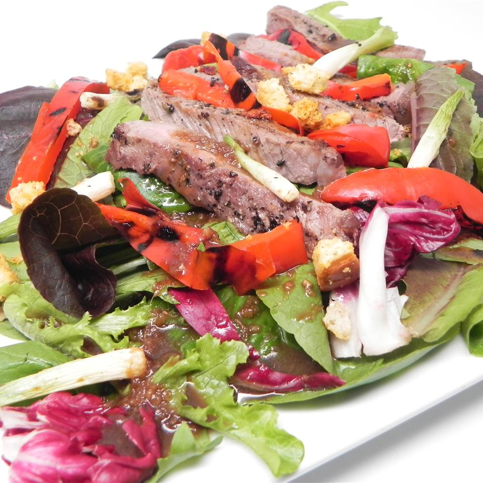 Grilled Sirloin Salad with Sesame-Ginger Dressing