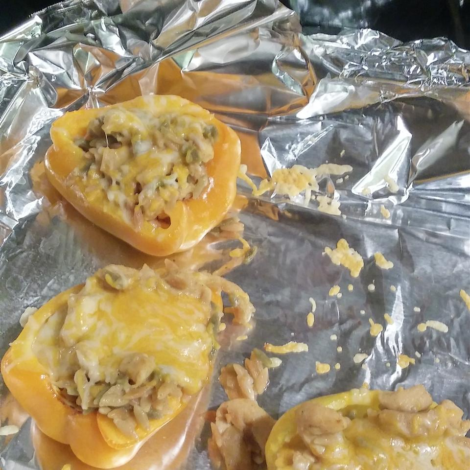 Orzo and Chicken Stuffed Peppers Chef TWIN
