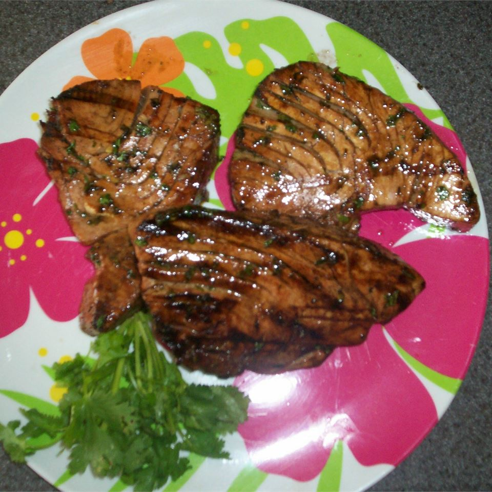 Grilled Lime Cilantro Ahi with Honey Glaze Juliet Fox