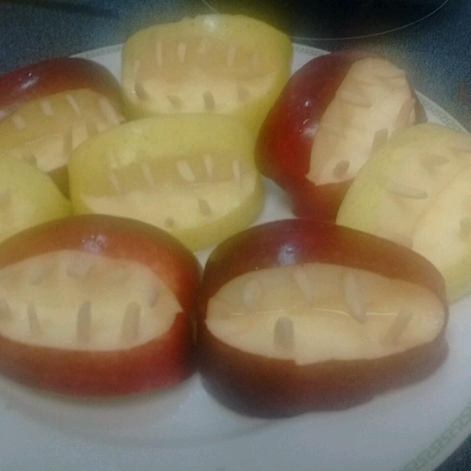 Halloween Fruit Apple Teeth Treats missmuslimah