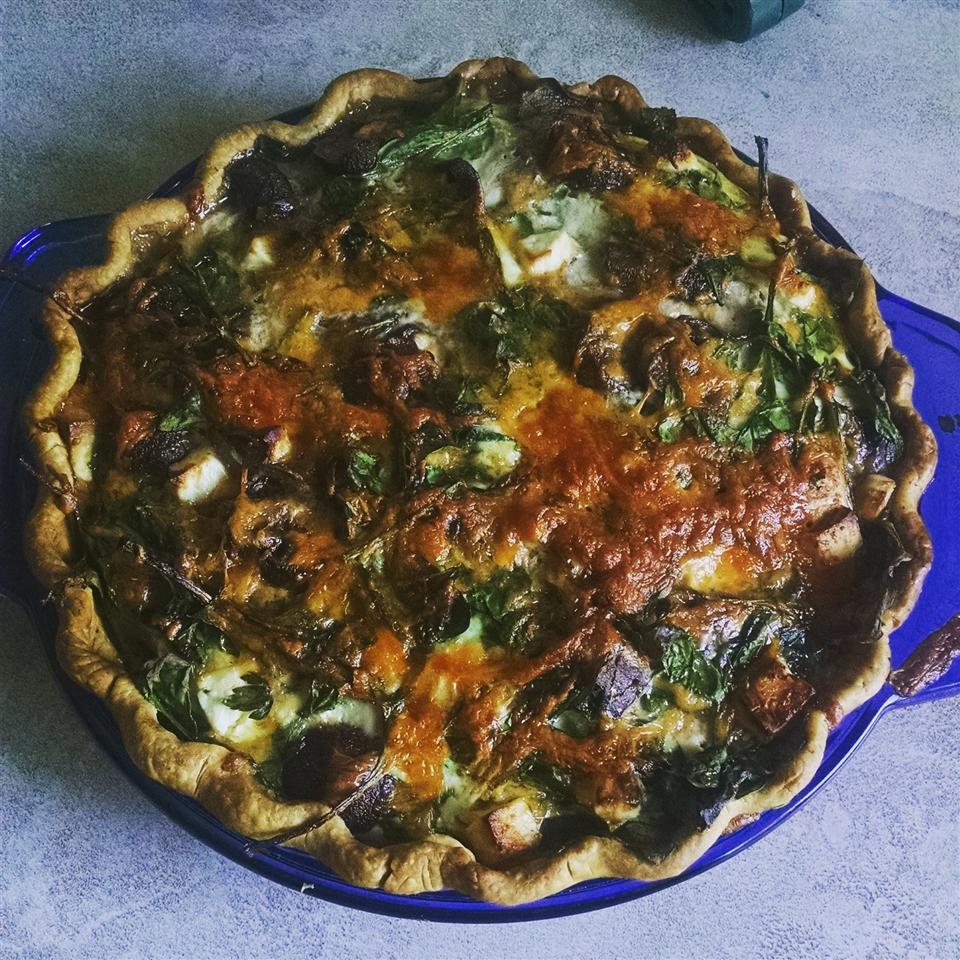 Transformed Spinach Mushroom Quiche