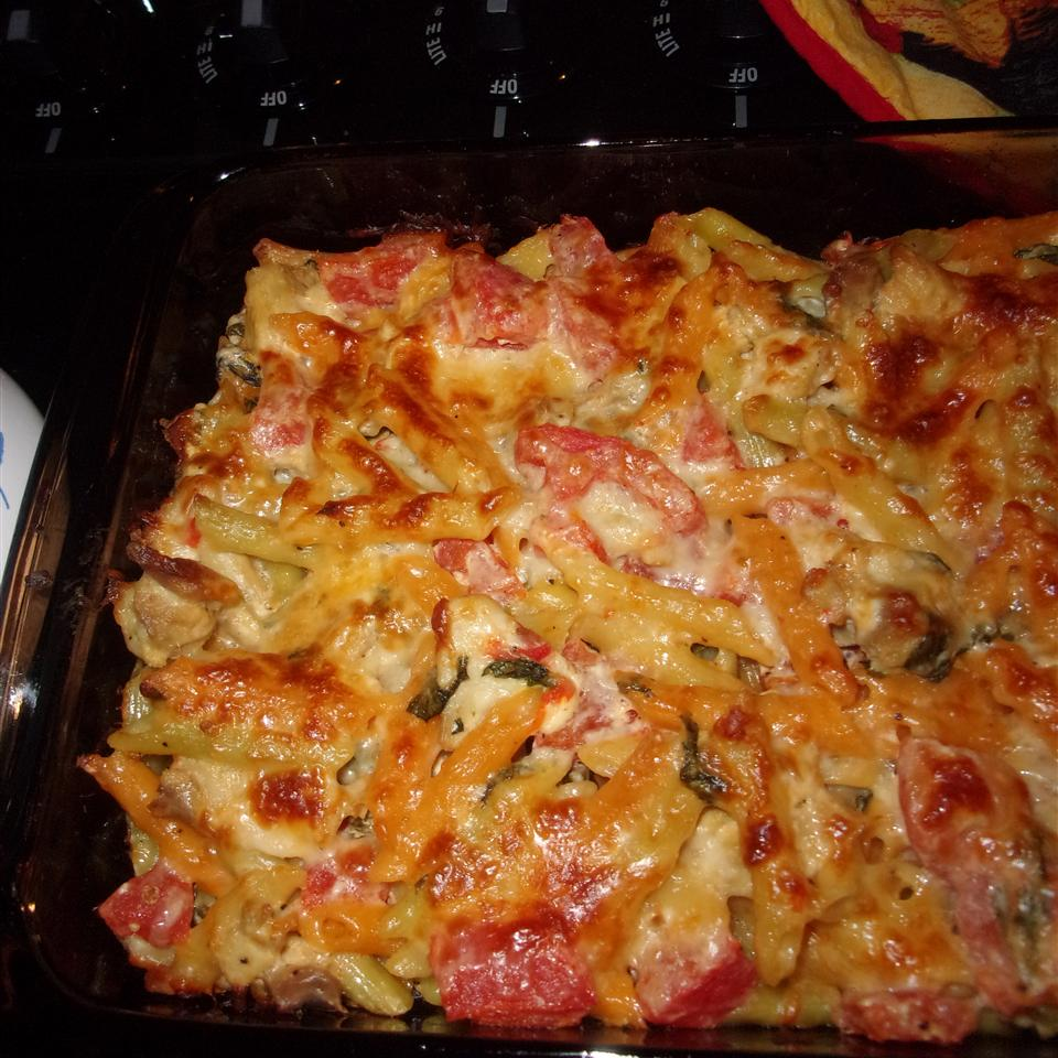 Chicken, Spinach, and Cheese Pasta Bake drgoodie