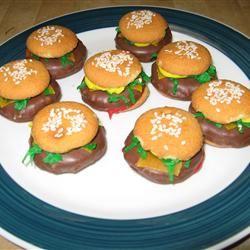 No Bake Deluxe Hamburger Cookies