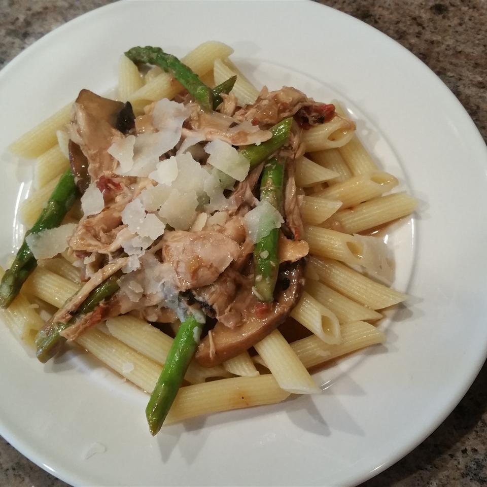 Marsala Cream Chicken with Asparagus